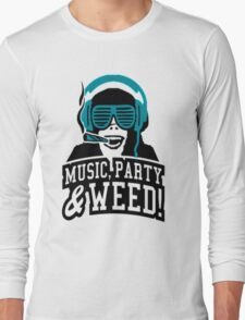 Music Party Weed 2 Long Sleeve T-Shirt