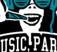 Music Party Weed 2 Sticker