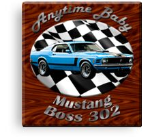 Ford Mustang Boss 302 Anytime Baby Canvas Print