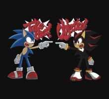 Sonic & Shadow Objection! by LegendDestroye