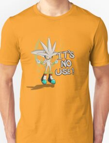 """Silver The Hedgehog """"It's no use!"""" T-Shirt"""