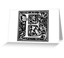 William Morris Renaissance Style Cloister Alphabet Letter E Greeting Card