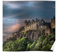 Storm Clouds over Stirling Castle Poster