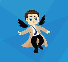 Angel Castiel Supernatural by awiec