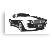 Mustang GT500 Graphic Canvas Print