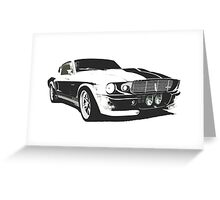 Mustang GT500 Graphic Greeting Card