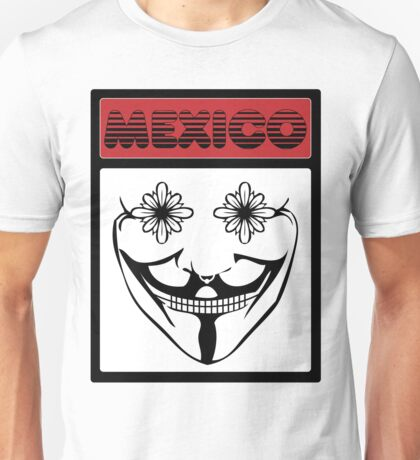 V for Vendetta x Mexican Skull Unisex T-Shirt