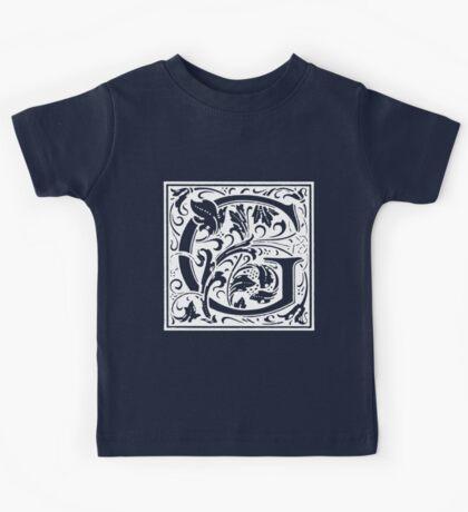 William Morris Renaissance Style Cloister Alphabet Letter G Kids Tee