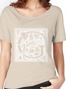 William Morris Renaissance Style Cloister Alphabet Letter G Women's Relaxed Fit T-Shirt
