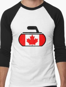Canada Curling Men's Baseball ¾ T-Shirt