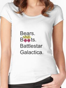 The Office US - Bears. Beets. Battlestar Galactica Women's Fitted Scoop T-Shirt