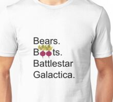 The Office US - Bears. Beets. Battlestar Galactica Unisex T-Shirt