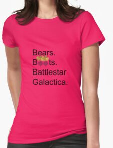 The Office US - Bears. Beets. Battlestar Galactica Womens Fitted T-Shirt