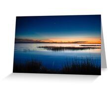 Twilight at Little Toms Cove - Chincoteague National Wildlife Refuge, Virginia Greeting Card