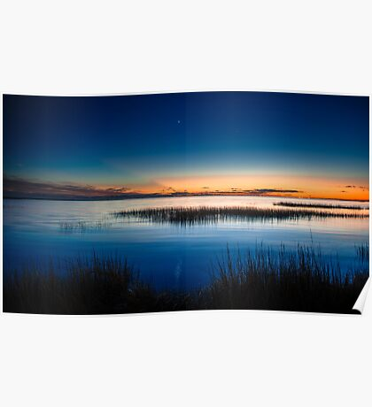 Twilight at Little Toms Cove - Chincoteague National Wildlife Refuge, Virginia Poster