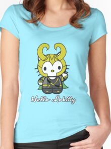 Hello Lokitty Women's Fitted Scoop T-Shirt