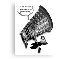 Drunk Dalek Metal Print