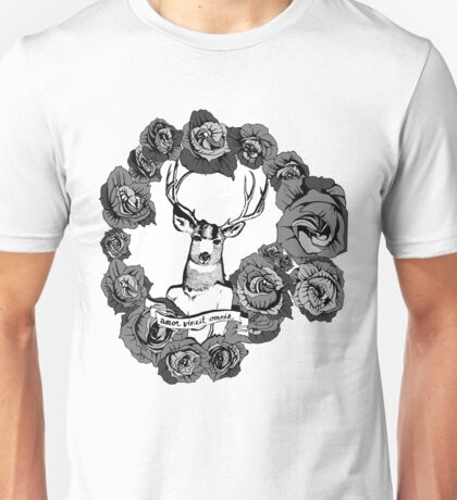 Love Conquers All- Grey Scale Unisex T-Shirt