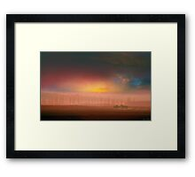 Sunset Gallop Framed Print