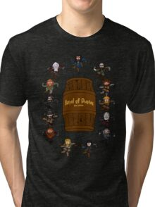Bilbo's Barrel of Dwarves Tri-blend T-Shirt