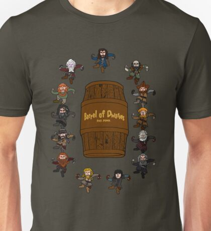 Bilbo's Barrel of Dwarves Unisex T-Shirt
