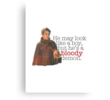 Peter Pan - Bloody demon. Canvas Print