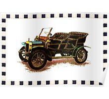 Vintage Car - Black Poster