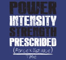 Power Prescribed Workout Tee. Crossfit Tee. Exercise Tee. Weightlifting Tee. Running Tee. Fitness by Max Effort