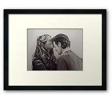 Amy Pond and the Doctor close-up Framed Print