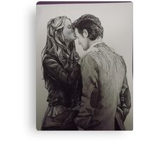 Amy Pond and the Doctor full drawing Canvas Print