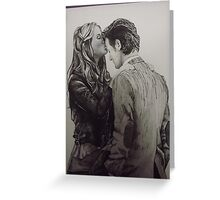Amy Pond and the Doctor full drawing Greeting Card