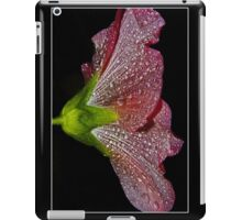 pink hollyhock skirt iPad Case/Skin