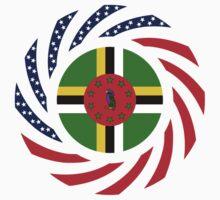 Dominica American Multinational Patriot Flag Series Kids Tee
