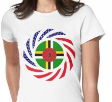 Dominica American Multinational Patriot Flag Series Womens Fitted T-Shirt