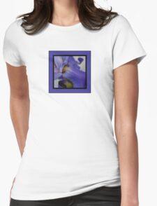 zebra iris 'tongue' (square) Womens Fitted T-Shirt