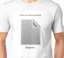 Delete my virginity Unisex T-Shirt