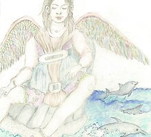 Angel Child - Dolphin Guardian by Lily L. Diamond