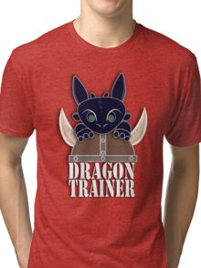 Dragon Trainer Tee (With Text) Tri-blend T-Shirt