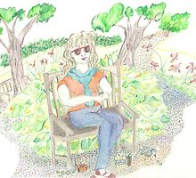 Woman in the Park by Lily  Diamond