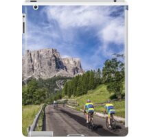 Cycling on a mountain road iPad Case/Skin