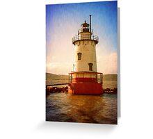 Tarrytown Lighthouse II Painterly Greeting Card