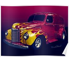 Flaming 47 International Panel Truck is a Hauler Poster