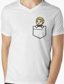 PocketJohn Mens V-Neck T-Shirt