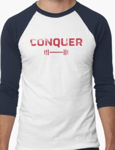 Conquer Men's Baseball ¾ T-Shirt