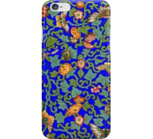 Antique Oriental Butterflies and Flowers iPhone Case/Skin