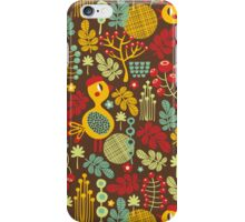 Bird in red hat. iPhone Case/Skin