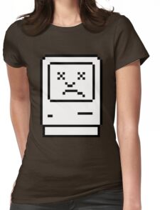 Sad Mac 2 (dark background) Womens Fitted T-Shirt