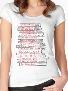 Haruki Murakami Book Fan Women's Fitted Scoop T-Shirt