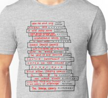 Haruki Murakami Book Fan Unisex T-Shirt