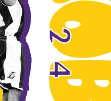 """Kobe"" in Darker Colors Sticker"